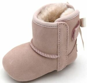UGG AUSTRALIA BABY GIRL ANKLE BOOTS BOOTIES WINTER CASUAL CODE I JESSE BOW II