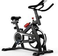 Advanced Stationary Fitness Exercise Spin Bike (Black)