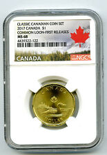 2017 CANADA $1 CLASSIC LOON NGC MS68 FIRST RELEASES LOONIE TOP POP...NONE HIGHER
