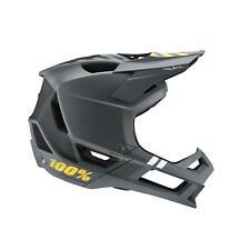 100% MTB Helmet Trajecta Charcoal Mountain Bike Downhill DH BMX Full Face