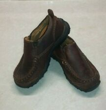 Timberland Carlsbad Slip On Brown Leather Loafers Shoes Toddler Boys Size 7.5