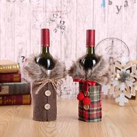 decoracion Champaña paquete Cubierta de la botella de vino Regalo de Navidad