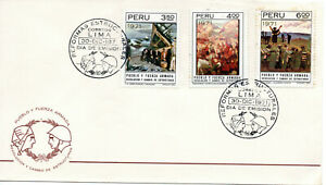 Peru 1971, Social Reforms Paintings, Armed Forces Revolution, First Day Postmark