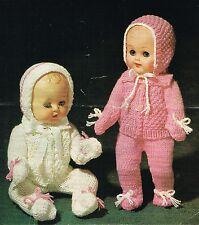 "Dolls clothes knitting pattern.10"" 12"", 14, 16 "" doll. (V Doll 167)"