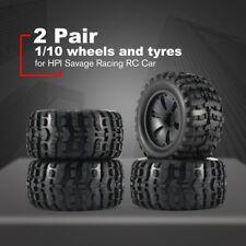 2 Pair 120mm 1:10 Tire Monster Truck Rim Wheel For HPI/ Savage Racing RC Car JB