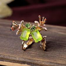 Boucles d`Oreilles Clips Secret Jardin Fleur Narcisse Email Vert Vintage J4