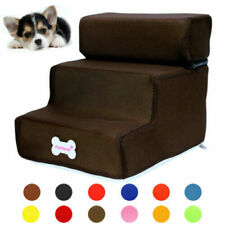 Soft Cat Dog Stairs Washable Samll Dogs Ladder Indoor Pet Ramp Steps 2/3 Steps