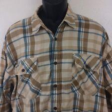 Vtg '96 Levi's Sz L Shirt Plaid Oversized Cowboy Boyfriend Ls 100% Cotton