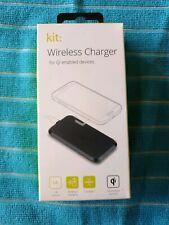Qi Charging Pad Wireless Smartphones Charger Universal Black - BNIB - FREE POST