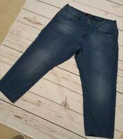 Max Jeans Womens Blue Denim Capri Jegging, soft and stretchy sz 10 EUC
