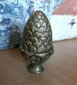 Vintage Small  Bronze Pinecone Finial