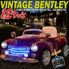 2017 CLASSIC VINTAGE BENTLEY 12V ELECTRIC KIDS RIDE ON CAR TOY + REMOTE CONTROL