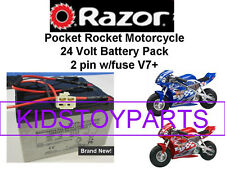 New! 24V Battery Pack for Razor Pocket Rocket V7+ 2 pin w/fuse