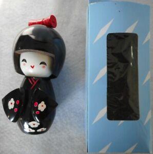 Vintage Wooden Black Kokeshi Doll (135mm high)