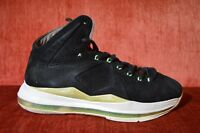 """Nike Lebron X EXT """"Mint"""" Suede 10 607078 001 Size 9 Black Brown White"""