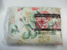 Vtg Floral Full Fitted Sheet NOS NIP JC Penney JCPENNEY Permanent Press Percale