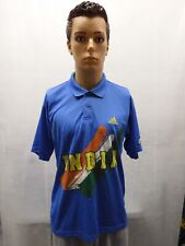 India Cricket World Cup Polo Adidas BCCI L Blue