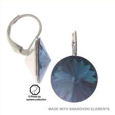 Versilberter Mode-Ohrschmuck mit Kristall-Hauptstein und Schnappverschluss