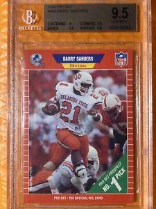 🔥Barry Sanders RC 1989 Pro Set Football #494 Det Lions RC Rookie HOF BGS 9.5