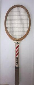 raquette de tennis vintage Adidas Ilie Nastase ADS 040  en bois wooden