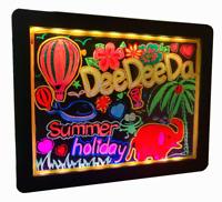 DEEDEEDA LED Drawing Writing Message Board, Menu Sign, Flashing Erasable Acrylic