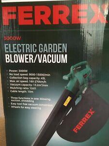 New Ferrex Electric Garden Leaf Blower Vacuum