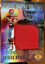 2017 Patrick Mahomes Illusions First Impressions RC Red Jersey