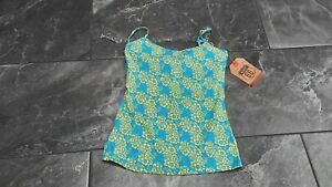 NWT ROUTE 66 WOMENS CAMI SHELD BRA ADJUSTABLE STRAPS FLORAL TURW YELLOW XS S M L