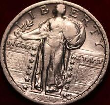 1924 Philadelphia Mint Silver Standing Liberty Quarter