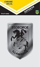 620132 St George Illawarra Dragons Chrome Decal NRL Car Stickers iTag