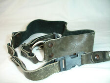 LEATHER CAMERA NECK STRAP with lug rings, quick release, Vintage #4040
