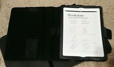 Brookstone Leather Ipad Stand with Sleeve Full Grain New Open Box
