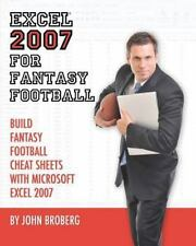 Excel 2007 for Fantasy Football : Build Fantasy Football Cheat Sheets with...