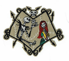 "5"" SALLY & JACK SKELLINGTON Patch Nightmare Before Christmas skeleton patches"