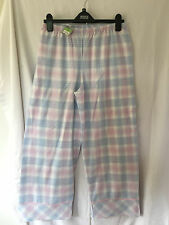 M&S Ladies Light Blue & Pink Check Pajama Bottoms, size 12