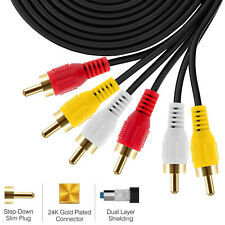 RCA M/Mx3 Audio/Video Cable Gold Plated - Audio Video RCA Cable (3-RCA - 25 Feet