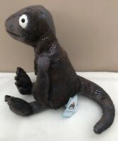 NEW Jellycat Kenny Komodo Dragon Soother Soft Toy Baby Comforter Grey BNWT