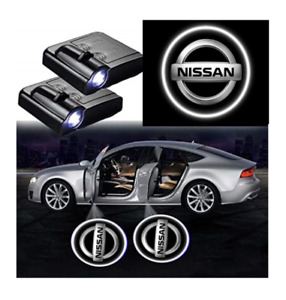 For Nissan Courtesy Door LED Logo Projector Light 2Pc Welcome Light Sentra GTR
