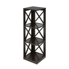 Convenience Concepts Oxford 3 Tier Corner Bookcase, Espresso - 203070ES