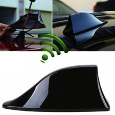 Universal Car Auto Shark Fin Roof Antenna Radio FM AM Decorate Aerial Black