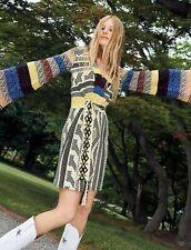 Free People NWT Size Small Boho Mixed Print Sweater Dress NEW $198