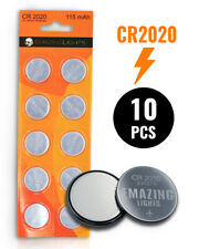 EmazingLights CR 2020 Batteries (10 Pack) 3v Button Cell Lithium Battery
