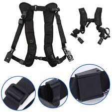 Black Double Shoulder Sling Belt Quick Rapid Strap for Olympus E-M5 EM5 /SX