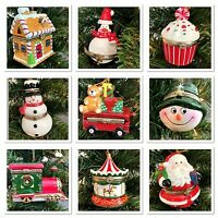 Hinged Trinket Box Ornament Porcelain Christmas Gift Hand Painted Many Designs