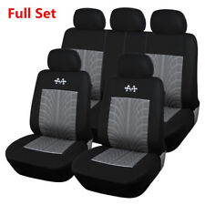 Sports Black+Gray Full Set Auto Car Seat Protector Universal Vehicles Seat Cover