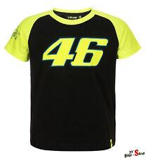 VR46 Kids Shirt in Schwarz-Neongelb, Valentino Rossi, Kinder-Shirt für 8-9 Jahre