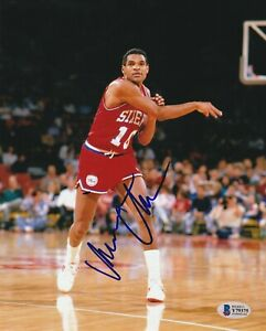 MAURICE CHEEKS Signed Philadelphia SIXERS 8x10 PHOTO with Beckett COA