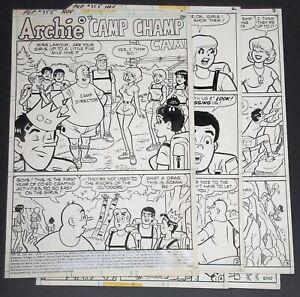 ORIGINAL ART, COMPLETE 5 PG STORY, DAN DECARLO JR, PEP #355, 11/1979 (A #1406)