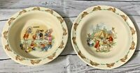 2 Bunnykins Bowls....English Fine Bone China...Royal Doulton..Free Shipping