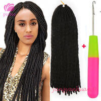 "20"" Soft Faux Locs Twist Braids Synthetic Crochet Hair Extensions 20strands/pack"